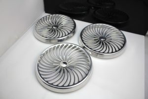 High polished aluminium buttons - CNC machined
