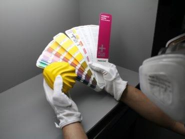 Light box – Pantone color matching