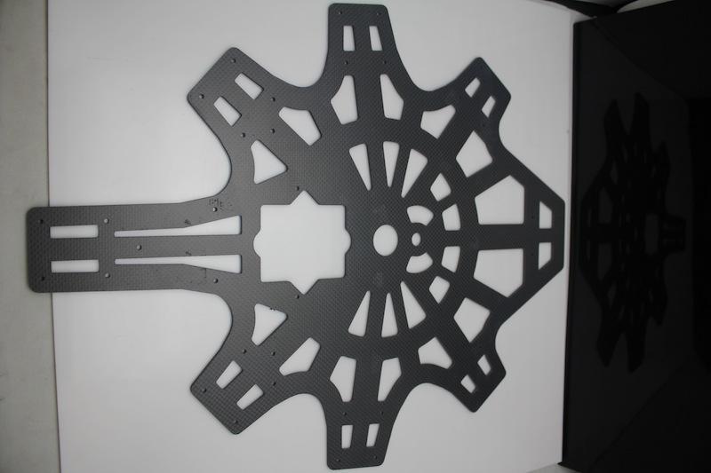Industrial drone – CNC machined carbon fibre